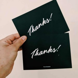Premium Thank you Card – 148x105mm
